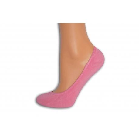 Ružové bambusové balerínkové ponožky