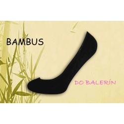 Lodičkové čierne bambusové ponožky