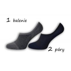 Bambusové pánske ponožky sivá+modrá