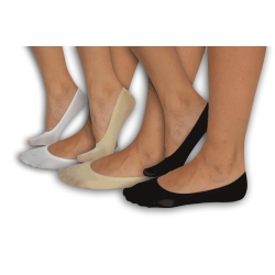 Nylonové neviditeľné ponožky - 3 páry