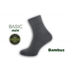 Najkvalitnejšie bambusové pánske ponožky – sivé