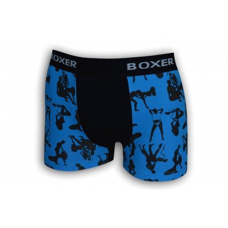 Pánske boxerky kamasutra - modré