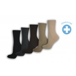 Ponožky zdravotné dámske 100% bavlna.