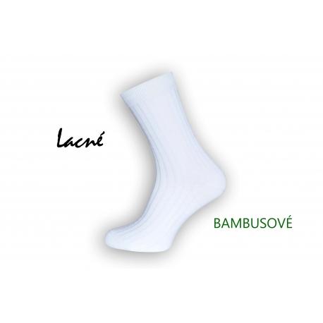 Lacné biele bambusové ponožky