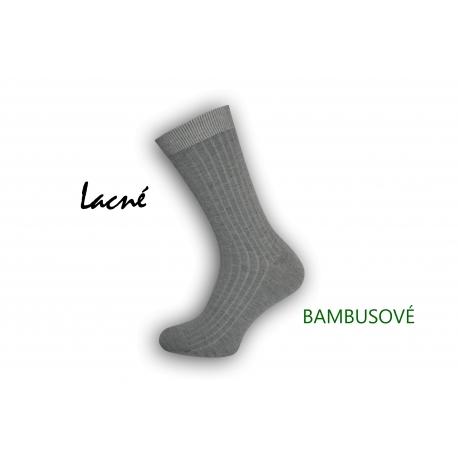 Lacné sivé bambusové ponožky