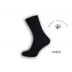 Klasické 95%-né modré pánske ponožky