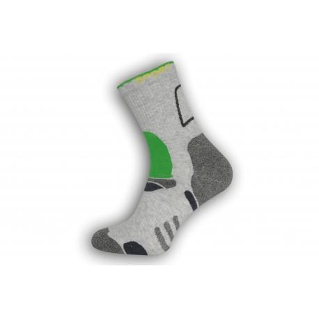 Športové ponožky Dynamic - sivo-zelené