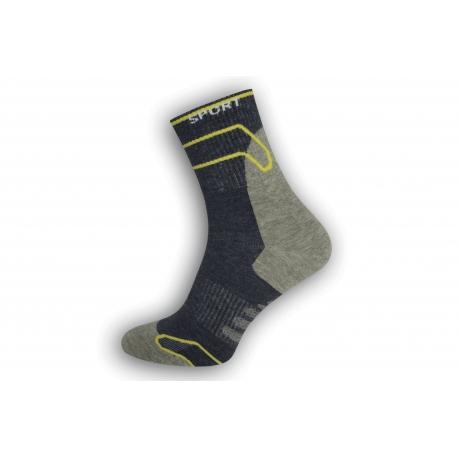 Športové ponožky Dynamic - modro-sivé