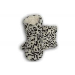 IBA 38-41! Biele dámske papuče s tygrím vzorom