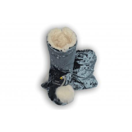 Petrolejové dámske papuče s labuťou