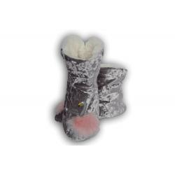 Bl. fialové dámske papuče s labuťou