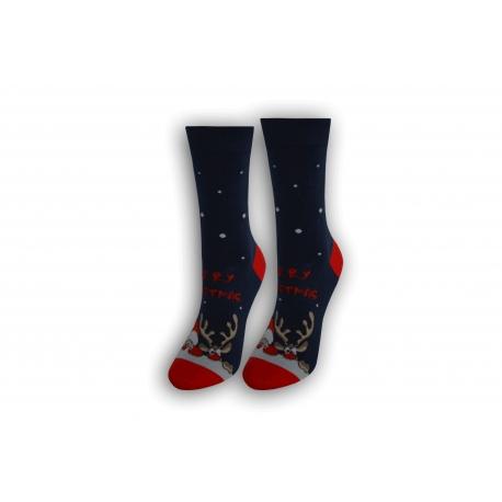 Vianočné dámske ponožky - modré