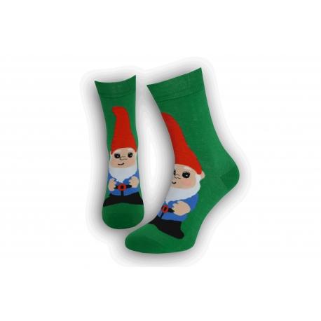 Zelené pánske vianočné ponožky