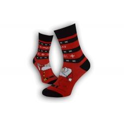 Pánske vianočné ponožky s vločkami