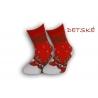 Detské vianočné teplé ponožky - červené
