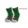 Detské vianočné teplé ponožky – zelené