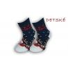 Detské vianočné teplé ponožky – modré