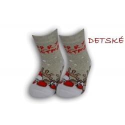 Detské vianočné teplé ponožky – sivé