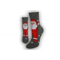 Ponožky ako darček na Mikuláša - sivé