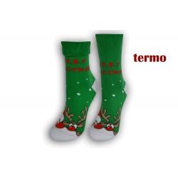 IBA 38-41! Zelené teplé vianočné ponožky