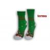 Zelené teplé vianočné ponožky