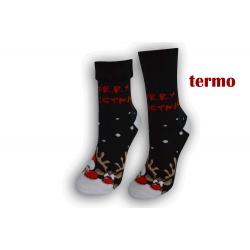 Čierne teplé vianočné ponožky