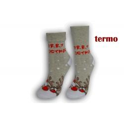 Sivé teplé vianočné ponožky