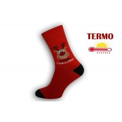 Teplé vianočné ponožky so sobom