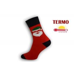 Teplé vianočné ponožky s hlavou Mikuláša