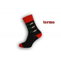Čierne vianočné ponožky s HO-HO-HO