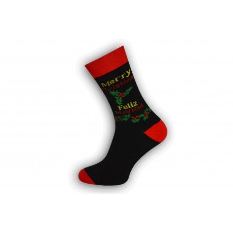 Feliz navidad. Vianočné ponožky