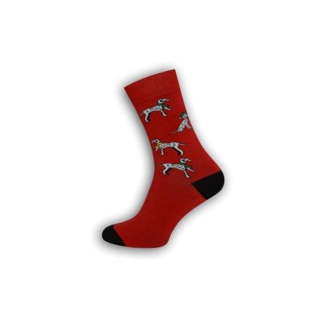 Vianočné pánske ponožky s dalmatíncami