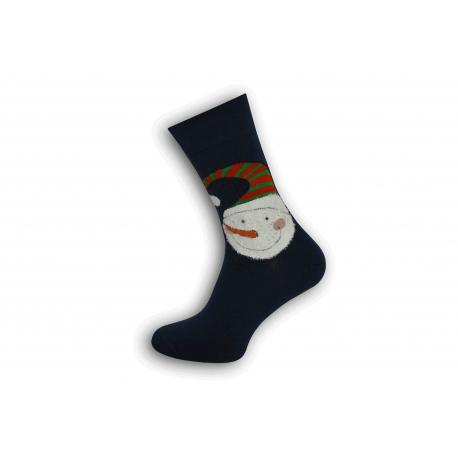 Modré vianočné pánske ponožky