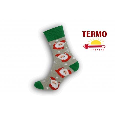 Pánske teplé vianočné ponožky s Mikulášikmi