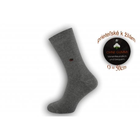 Flexibilné ponožky priateľské k žilám - tm.sivé