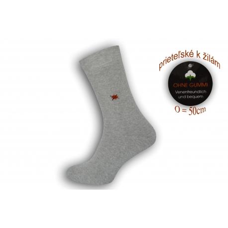Flexibilné ponožky priateľské k žilám - sivé