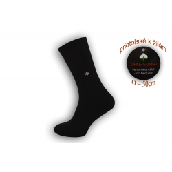 Flexibilné ponožky priateľské k žilám - čierne