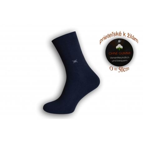 Flexibilné ponožky priateľské k žilám - tm.modré