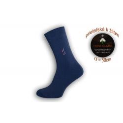 Pánske ponožky na široké nohy - modré
