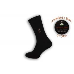 Pánske ponožky na široké nohy - čierne