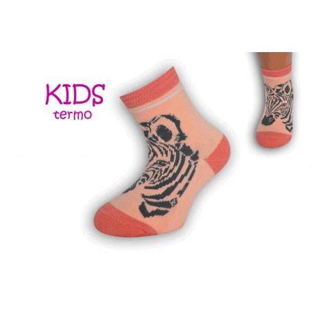 Teplé dievčenské ponožky so zebrov