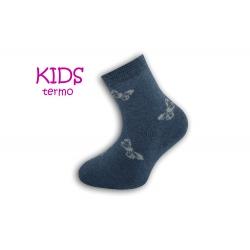 Dievčenské termo ponožky s motýľmi