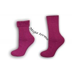 Maximálne vyteplené a veľmi hrubé dámske vysoké ponožky