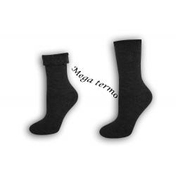 Najteplejšie dámske ponožky do -25 °C - sivé