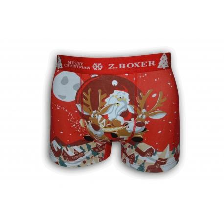 Vianočné červené boxerky so sobmi