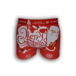 Červené vianočné boxerky s veľkým obrázkom
