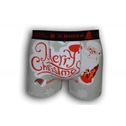 Sivé vianočné boxerky s veľkým obrázkom