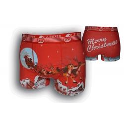 Červené vianočné boxerky so sobmi