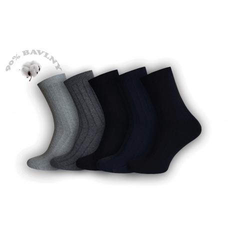 Pánske vysoké perforované bavlnené jemnné ponožky za super cenu