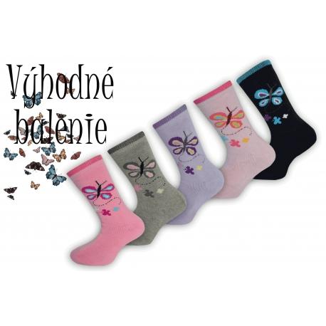 Dievčenské termo ponožky výhodné balenie 5 párov